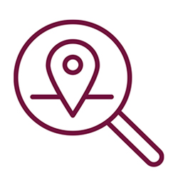 locations magnifying glass icon