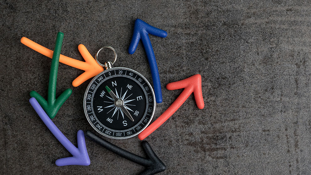 compass circular arrows